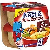 Nestlé Bébé P'tite Recette Pot Au Feu - Plat Complet dès 8 Mois - 2 x 200g - Lot de 8