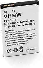 vhbw Li-Ion Akku 600mAh (3.7V) für Handy Telefon Smartphone Olympia Joy Plus, Becco Plus, Becco Viva, Becco 2125, Viva Color wie LN-4C