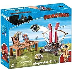 Cómo entrenar a tu Dragón - Bocón con lanzadera de ovejas (Playmobil 9461)