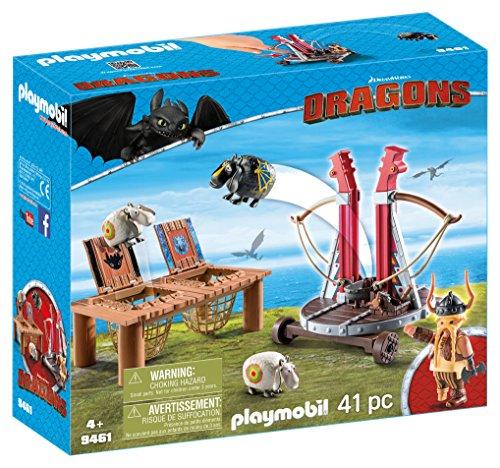 Playmobil 9461 - Dragons - Skaracchio con Lanciatore di Pecore