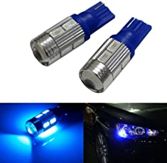 LOWRENCE T10 Parking Bulb/Pilot Light High Power Projector LED for All Bikes (Blue, NEWAUTOS-18)-Set of 2