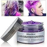 Cera Capelli, Cera per capelli, Unisex Colore Capelli Temporaneo Cera DIY Crema Colorante Modellante Hair Styling Wax per Capelli Soffici Matte Porpora - 100G