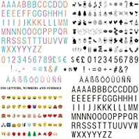 FSC Letras y Símbolos, Números/Color Emoji con Símbolos del Festival, un Total de 350 Personajes Decorativos para Fiestas para su Caja de luz Cinemática …