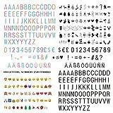 Letras y Símbolos, Números / Color Emoji con Símbolos del Festival, un total de 350 Personajes Decorativos para Fiestas para su caja de luz Cinemática
