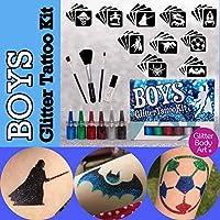Boys Glitter Tattoo Kit