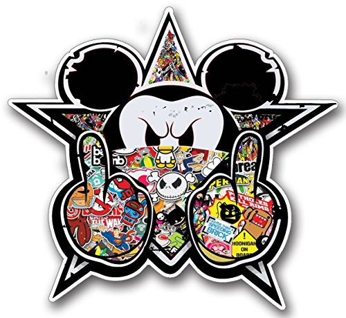 Preisvergleich Produktbild Mickey Stickerbomb JDM Oldschool Sticker for Skateboards, Snowboards, Scooters, BMX, Mountain Bikes, Laptops, iPhone, iPod, Guitars etc by ONEKOOL