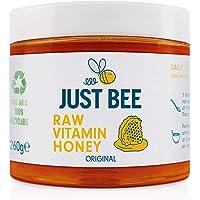 Just Bee Raw Vitamin Honey, raw natural honey with vitamins, floral and meadow honey with Vitamin C, B6, B12, Echinacea…