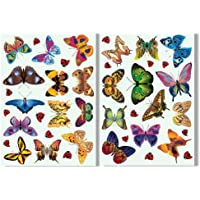 25 Butterflies & 17 Ladybird Window Clings by Articlings - Colourful Non-Adhesive Stickers – Stop Birds Flying into your Glass