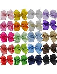 Cdet 20X Horquilla Pelo Ribbon Boutique Arcos Adolescentes Toddlers para niñas y bebés Color sólido