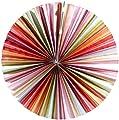 """Lunartec Papierleuchte """"Rad"""" - Multicolor inkl. Fassung und Kabel"""