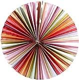 Lunartec Hängeleuchte: Papierleuchte Rad - Multicolor inkl. Fassung und Kabel (Papier-Laterne)