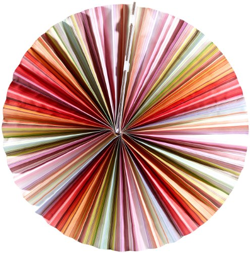 Lunartec Hängeleuchte: Papierleuchte Rad - Multicolor inkl. Fassung und Kabel (Papierlampe)