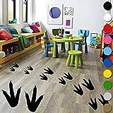 12?x Dinosaurier Fu?abdr?cke Wandtattoo Vinyl Kids Jungen M?dchen Schlafzimmer Boden Wand von inspiriert W?nde ?