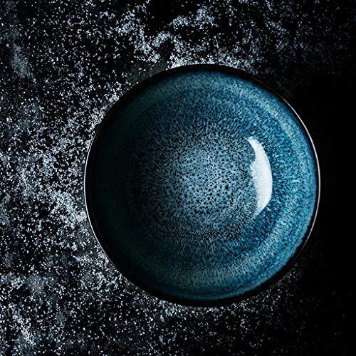 SED Besteck-Set Creative Bowl Restaurant Dish Western Plate, Obstsalat Bowl Glasur Keramik Küche Müsli Schüssel Nudel Pasta Bowl Vintage europäischen 6,5 Zoll Sterling Besteck-sets