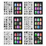 CICI&SISI Nail Art Stamping Collection Set Jumbo 1- Set of 6 JUMBO Nail art Polish Stamping Manicure Image Plates Accessories Kit (Totaling 216 Images) All New Designs