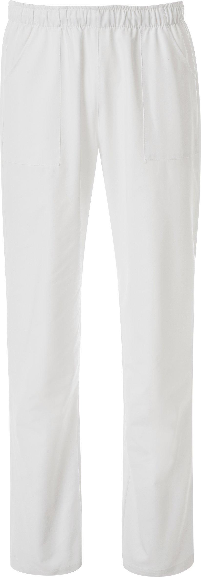 WWOO Donna Pantalone da Lavoro Bianco Puro Cotone Pantaloni Medical Pantaloni da Infermiere Opaco pantalaccio con Elastico