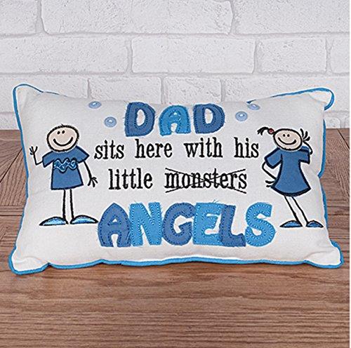 Dad cushion- dad si trova qui con il suo piccolo angelo festa del papà cuscino