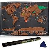 Weltkarte zum Rubbeln, Ubegood Rubbel Weltkarte mit Scratcher Personalisierte Weltkarte Poster für Jung und Erwachsene Geschenkrolle - Zeigen Sie Ihre Abenteuer (82.5 x 61.2 cm)