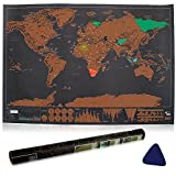 Scratch off World Map, Vitutech Personalised World Map Adventure Scratch World Map Travel Gift Scratch off Places You've Travelled