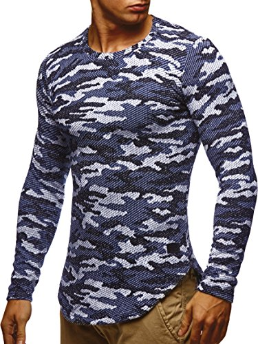 LEIF NELSON Herren Sweatshirt Hoodie Hoody Camouflage Army LN6364