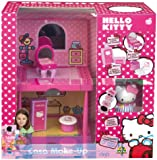 Hello Kitty - 6408 - Poupée et Mini Poupée - Hello Kitty - Maison Maquillage  + 1 Figurine Makeup - Salle De Bain/Cuisine