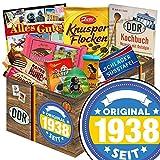 Original seit 1938 | Schokolade DDR Süßigkeiten-Box | Schokoladen Geschenkset M | Maulwurf, Viba, Zetti Süßtafel | Geburtstagsgeschenk 80 Geburtstagsgeschenk für Opa Geburtstagsgeschenk Oma 80