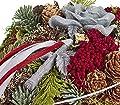 Dehner Grabschmuck Rebenherz mit Steinrose, Länge ca. 20 cm, verschiedene Farben von Dehner bei Du und dein Garten