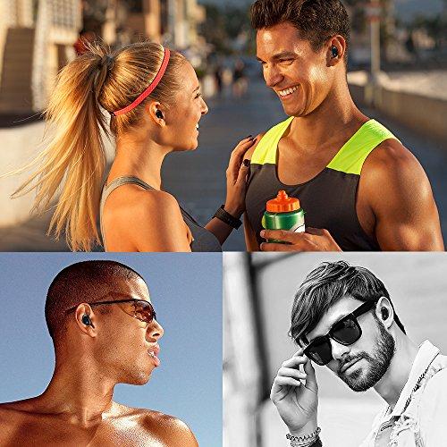 Kapazitiver Sensor Taste, In Ear wasserdichter Bluetooth Kopfhörer, leicht, bequem, Stereo Toneffekt, noise cancellation und Lärmminderungstechnik mit eingebautem Mirkfon - 6