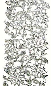Happy people 70154 tib heyne-feuille-chemin de table de mesure 120 mm x 2 m (argenté/pailleté