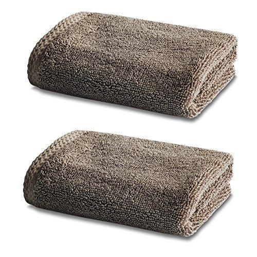 Linge de Bain en Bambou - Double Pack - 2 x Superbes Bambou Petits Carrés de Toilette - 800g/m² - Truffle - 30cm x 30cm