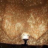 Xinji Projektionsnachtlicht, Sternenhimmel, LED-Projektionslampe, DIY gelb