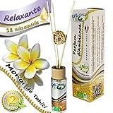 FragranceBio® - Monoï de Tahiti - baguettes - Parfum d'Ambiance BIO 55ml...