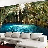 Vliestapete Cenote Mexico VT281 Größe:400x280cm, Fototapete, Vlies Tapete, High Quality, PREMIUM Bildtapete, Tapete Natur Höhle Südamerika