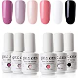 Top Base Coat Semi Permanent UV LED - Gellen Vernis à Ongles Soak off Nail Polish Manucure