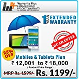 Warranty Plus 1 Year Extended Warranty on all Mobiles & Tablets Price Range (12001 to 18000)
