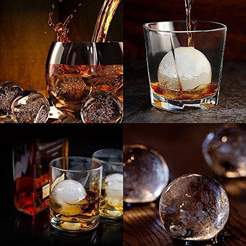 confronta il prezzo Tophie Stampo per Cubetti di Ghiaccio in Silicone,6 Cubetti Vaschette Ice Ball per Sfere di Ghiaccio Ideali 4.5cm per Alcolici,Whisky,Cocktail,Drink,Candy Budino,Latte Succo,100% Silicone Alimentare P miglior prezzo