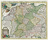 Historische Karte: Deutschland - Das Heilige Römische Reich 1740 (Plano)