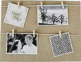 Fotorahmen Fotoleine - toller Familienbilderrahmen mit Holzklammern - Bilderrahmen