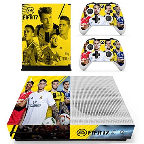 Preisvergleich Produktbild XBox One Slim + 2 Controller Aufkleber Schutzfolien Set - Fifa 17 (1) / One S