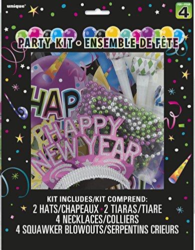 ew Year's Party für 4 Personen - Tiaras, Hüte, Tröten & Ketten ()