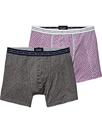 Scotch & Soda Classic Boxer In Melange Jersey Quality with Bright Al, Short Lot de 2 Homme