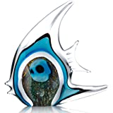 Tooarts Ornements en verre de sculptures de poissons pour la décoration de la maison, bureaux modernes et intérieurs colorés