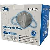TEMA Regali promozionali KN95CE2163 Jinlu FFP2 KN95 Mask, 209G, confezione da 25