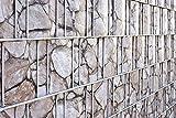 Angebot - Exklusiv- Material nur bei uns! Im Set 10 x naturgetreue Sichtschutzstreifen bedruckt - wie echt - kein Textil, sondern PVC Hartschaum - 1 mm - Oberfläche total unempfindlich und einfach einzuflechten - Zaunstreifen bedruckt - braune Steine - wie echte Gabione - bedruckt - Steinoptik - Gabionenoptik - Sichtschutzstreifen für Stabgitterzaun - Zaunstreifen Metallzaun - Sichtschutz für Doppelstabmattenzaun inkl. Versand