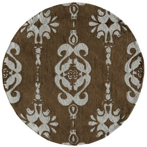 Momeni Rugs LMOINLMI-1BBL500R Lil' Mo Classic Collection, Kids Themed 100% Cotton Hand Hooked Area Rug, 5' Round, Baby Blue by Momeni Rugs