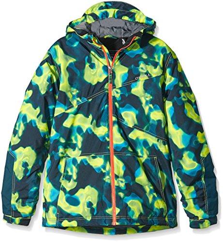 O'Neill Jungen Skijacke PB Scientist Jacket, Yellow Aop, 176, 550072