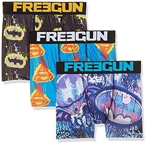 Freegun X3, Boxer Garçon, Multicolore (A7), 7-8 ans (Taille fabricant: 6/8)