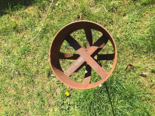Kerzenhalter 122cm Rost Deko Outdoor-Kerzen Gartendeko Topfhalter Stab Edelrost Beetstecker -