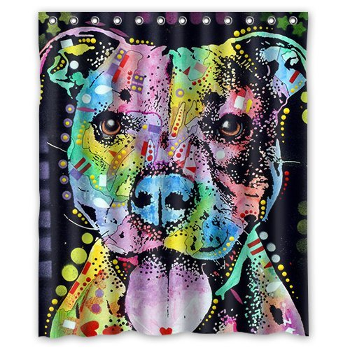 (individuellen Stil Graffiti Colorful Wasserdicht Polyester Duschvorhang aus Stoff, 152,4x 182,9cm)