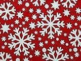 Minerva Crafts Weihnachten Schneeflocke Print Polycotton